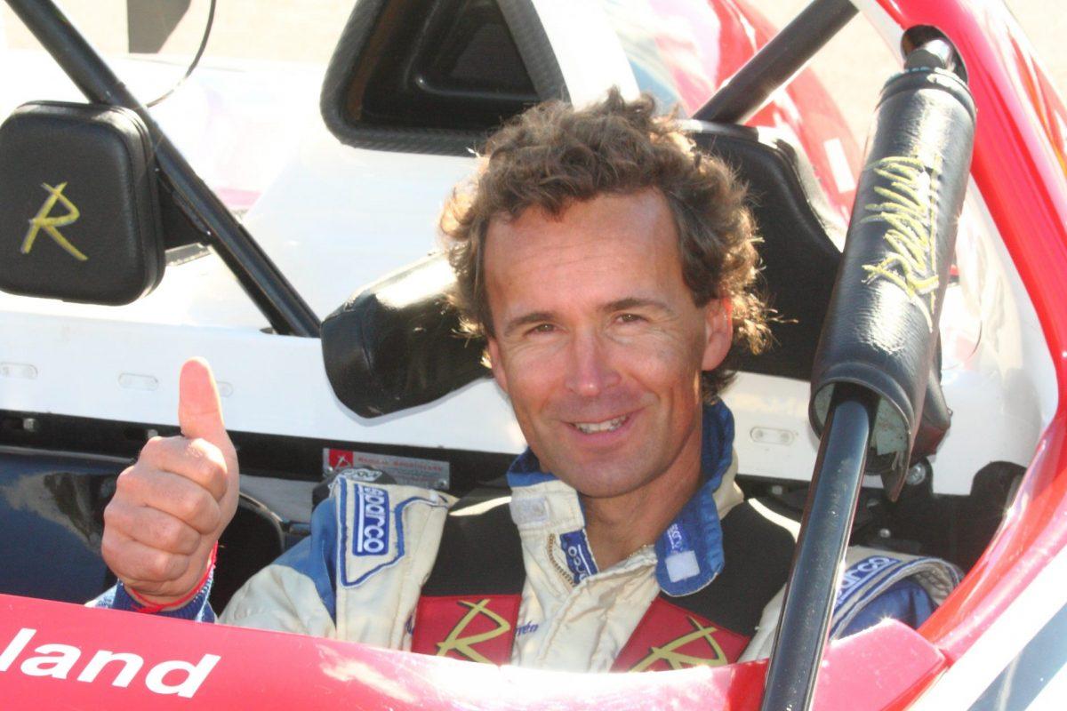 A car racer inside his car